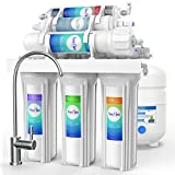 SimPure Alkaline Mineral pH+ Reverse Osmosis System 6 Stage RO Filter with Remineralization Purifier - Reverse Osmosis Water Filtration System - 75 GPD