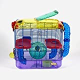Kaytee 100079217 CritterTrail Two-Level Cage, Habitat for Hamsters, Gerbils Or Mice, Multi-Color