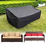 HIRALIY Patio Loveseat Covers Waterproof Outdoor 3 Seaters Patio Sofa Cover Lounge Deep Seat Chairs...