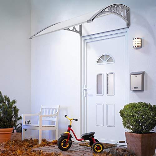 Toldo Cubierta de Policarbonato en Jardín,Marquesinas Exterior para Puertas y Ventanas,Marquesina para Puertas60*100cm