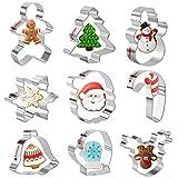 Olywee Lot de 9 emporte-pièces de Noël en acier inoxydable,...