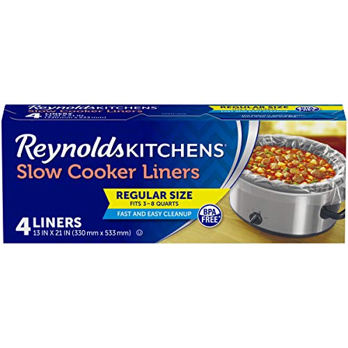 Reynolds Kitchens Premium Slow Cooker Liners - 13 x 21 Inch, 12 Packages of 4 Liners (48 Count)