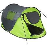 TecTake Grande Tente instantanée 2 Personnes Pliante Pop up + Housse de Transport + Set Sardines et Cordes -...