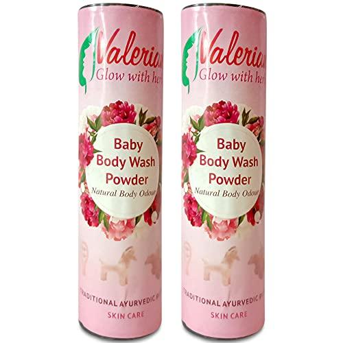 Valerian Herbal hand made skin whitening Baby Body Wash Powder Traditional Ayurvedic Product 75gram Pack of 2