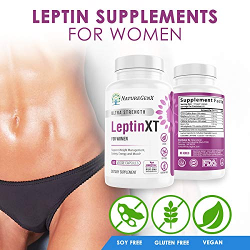 NatureGenX - Leptin XT (2-Pack) Leptin Rresistance Supplements for Weight Loss -Leptin Hormone Supplements - Vegan - 60 Pills -Leptin Burn for Women 2