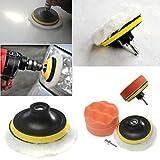 Kit de tampon de polissage FomCcu 10,2 cm avec adaptateur pour perceuse. Outils...