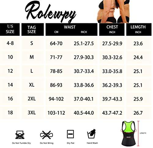 Rolewpy Women Neoprene Waist Trainer Corset Sweat Vest Sauna Body Shaper Cincher Workout Tank Top (Black Sauna Vest, Small (US 4-8)) 6