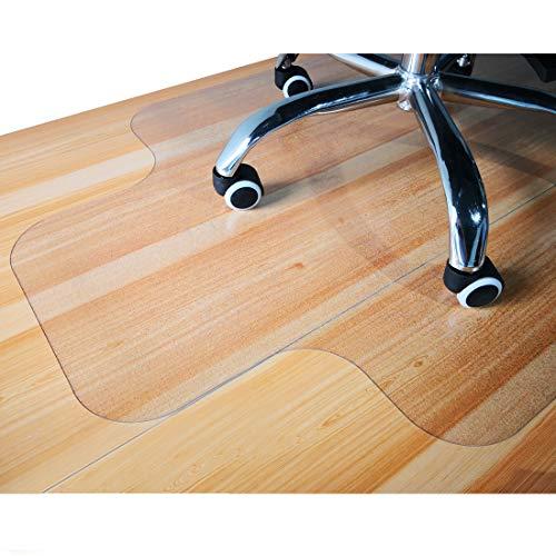 Giovara Transparente Stuhlmatte mit Lippe für harte Böden, 90 x 120 cm, hohe Stoßfestigkeit, rutschfestes, nicht-recyceltes Material