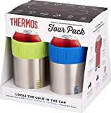 Thermos 12 oz, Multicolor Stainless...