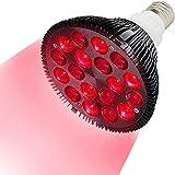 GZD Red Light luminothérapie, LED beauté lumière, 54W 18 LED Infrarouge...