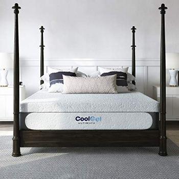 Classic Brands Cool Gel 1.0 Ultimate Gel Memory Foam 14-Inch Mattress with BONUS 2 Pillows , King, White