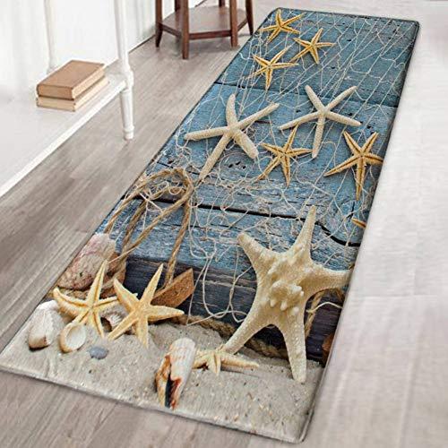 Bornbayb 3D Starfish Board Tappetini da Bagno e tappeti, Tessuto Flanella Tappeto Antiscivolo in...