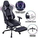 VON RACER Massage Gaming Chair - High Back Racing PC Computer Desk...