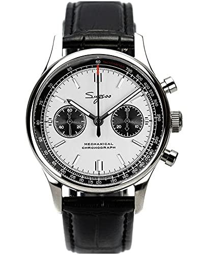 40 mm Racing Panda Chrono Seagull ST1901 Uhrwerk Saphirkristall Chronograph Herrenuhr 1963 SUPANK002SN