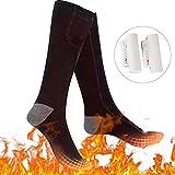 Bilisder Chaussettes Chauffantes Rechargeable Thermiques Chaussettes à Pile...
