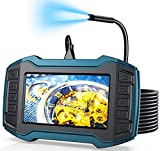 Borescope Inspection Camera, Industrial Endoscope Camera 1080P 4.5' IPS Screen Snake Camera, Sewer Camera w/ Detachable Semi-Rigid Cable-16.5FT