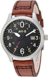 The Hawker Hurricane AV-4053 style is a clean, easy-to-read pilot's watch With large visible hands, hour markers that are accented with 24hr format sub indexes, the dial echoes vintage instrumentation Japanese-quartz Movement Case Diameter: 43mm Wate...