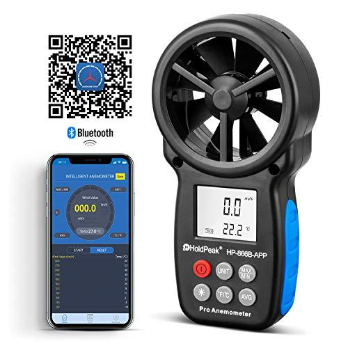 HOLDPEAK HP-866B-APP Digital Anemometer Handheld APP