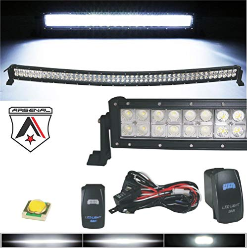 Arsenal 42 inch LED Curved Light Bar 240w CREE LEDs Offroad Spot Flood...
