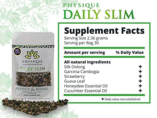 Herbal Tea Weight Loss Cleanse: Daily Slim Detox Tea for Natural Weight Loss - Slimming Diet Aid Tea with Appetite Suppressant - Metabolism Booster and Fat Burning Supplement -Over 150 Servings - 8 oz 3