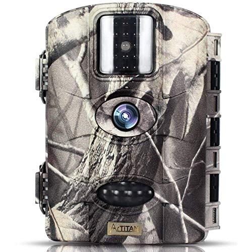 Trailwatcher Caméra de Chasse 16MP Trail Camera Animaux Caméra Imperméable IP65 Piège Photographique 65ft Vision Traque IR Caméra de Jeu Nocturne Infrarouge Basse Luminosité