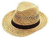 Black Jungle Varadero Chapeau De Paille Nature Chapeau D'été Chapeaux De Paille Chapeau De La Havane Unisexe Bogart Fedora Chapeau (58)