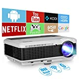 EUG LCD Wireless WiFi HD Projector WXGA Native 4600 Lumens, Bluetooth, Android, 1080P Supoport,...