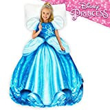 Blankie Tails | Disney Princess Cinderella Dress Wearable Blanket - Double Sided Super Soft and Cozy Cinderella Princess Minky Fleece Blanket - Machine Washable Fun Cinderella Dress for Girls
