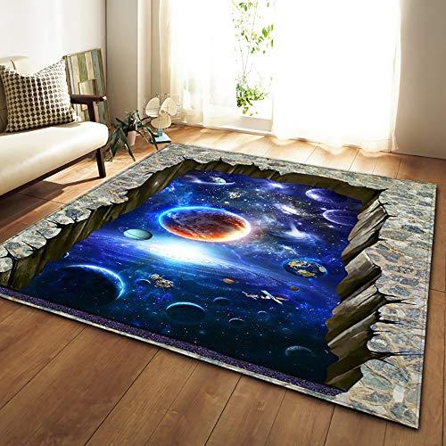 HSRG Rug Tappeti Nordici Morbido Flanella 3D Stampato Tappeti Area Galaxy Space Mat Tappeti...