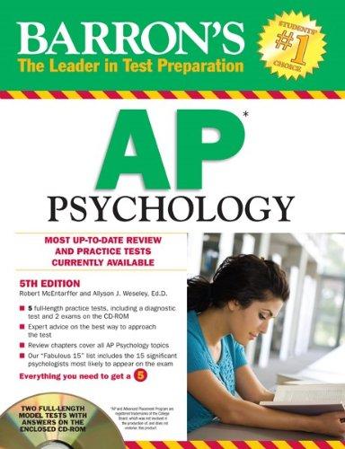 Barron's AP Psychology with CD-ROM, 5th Edition (Barron's...