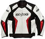 Cortech Latigo 2.0 Men's Leather Motorcycle Jacket (White/Red, Medium)