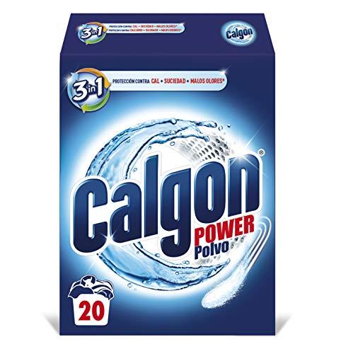 Calgon Power Polvo Antical para la Lavadora, Elimina Olores y Suciedad, en formato polvo 20 dosis