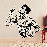 WERWN Regalo Creativo de la decoración del Jugador de fútbol de la Etiqueta de la Pared del Vinilo