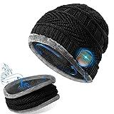 GeekerChip Cadeau V5.0 Bonnet Bluetooth,écharpe,Bonnet Bluetooth pour Hommes et Femmes,avec Casque sans Fil Bluetooth,Bonnet Tricoté Winter Running Music,Convient à Sports,Ski,Patinage,Marche