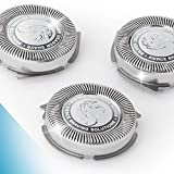 Silver Dragon Shave SH30 Norelco Replacement Heads - SH30/52 Shaving Blades Compatible with Philips Norelco Series 1000, 2000, 3000 and S738 Click and Style Electric Shavers, Pack of 3