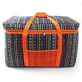 JOMSK Bolsas de Picnic Gran Aislamiento Cesta de Picnic, a Prueba de Fugas Portable Plegable Cesta Conjunto con for Viajes, Compras (Color : Orange, Size : 66x33x41CM)