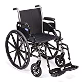 Invacare Tracer SX5 Wheelchair, with Desk Length Arms and T93HCP Hemi Footrests with Heel Loops, 22' Seat Width, TRSX52FBP / T93HCP