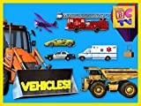 Learning Vehicles Names and Sounds for Kids - Cars, Trucks, and More!