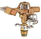 SOMMERLAND A5001T Heavy Duty Brass Impact Head Sprinkler 0-360 Degree 20-40' Up to 5000 SQF Coverage