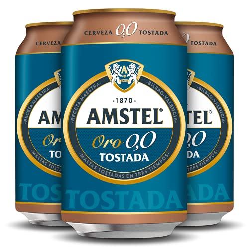 Amstel oro 0,0 cerveza tostada pack 24 latas 33cl - 7920 ml, el paquete puede variar