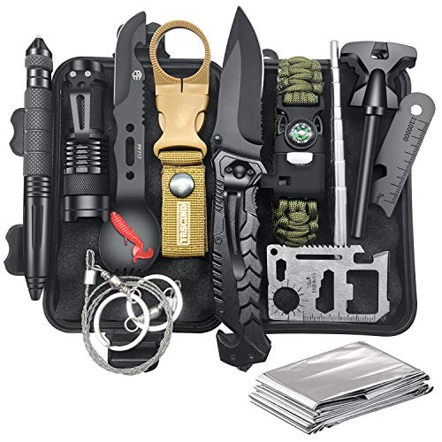 Gifts for Men Dad Husband, Survival Gear and Equipment 12 in 1,...