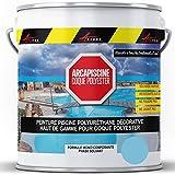 Peinture Piscine Coque Polyester - Peinture hydrofuge/imperméabilisante piscine et bassin - Bleu Piscine - 5 kg (jusqu'à 15m² pour 2 couches) - ARCANE INDUSTRIES