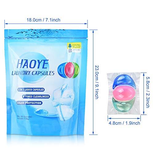 HAOYE 3 en 1 lessive capsule bio - Universal condensation lessive Powder...