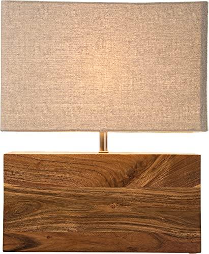 Kare Design Lampada da Tavolo Rectangular Wood Nature, Marrone, 43x10x33cm