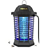 HEMIUA Bug Zapper Pro Outdoor Mosquito Killer - Bug Fly Pests Attractant Trap Patio for Outdoor and Indoor Hangable - Black