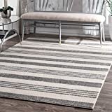 nuLOOM Vernazza Striped Area Rug, 5' 3' x 7' 7', Grey