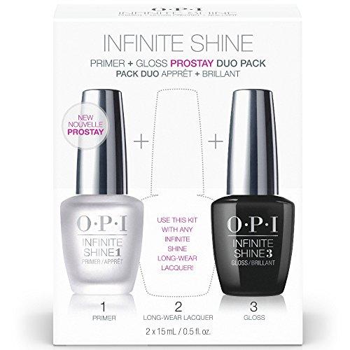 OPI Nail Polish Base Coat Primer & Gloss Top Coat, Infinite Shine Duo Pack, 0.5 Fl Oz each bottle