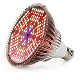 120W Bombilla LED para Cultivo Espectro Completo Lmpara LED Plantas Crecimiento Interior E27 Luces Led Cultivo 180 LED Grow Light para Interior Plantas Hidroponia Crecimiento y Floracion