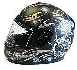 VIPER TROJAN SKULL MOTORCYCLE HELMET, GUNMETAL, X-LARGE (Misc.)