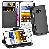 Cadorabo Coque pour Samsung Galaxy Young 2 en Noir DE Jais - Housse...